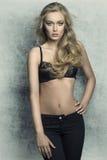 Χαριτωμένη γυναίκα με lingerie μόδας Στοκ φωτογραφίες με δικαίωμα ελεύθερης χρήσης