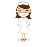 Χαριτωμένη γυναίκα νοσοκόμα Στοκ εικόνες με δικαίωμα ελεύθερης χρήσης