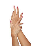 χαριτωμένη γυναίκα χεριών στοκ φωτογραφίες με δικαίωμα ελεύθερης χρήσης
