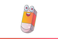 Χαριτωμένη γόμα Emoji ευτυχές Στοκ Φωτογραφίες