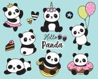 Χαριτωμένη διανυσματική απεικόνιση της Panda μωρών απεικόνιση αποθεμάτων