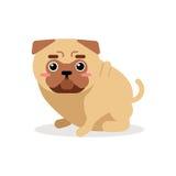 Χαριτωμένη διανυσματική απεικόνιση χαρακτήρα σκυλιών μαλαγμένου πηλού κινούμενων σχεδίων Στοκ εικόνα με δικαίωμα ελεύθερης χρήσης