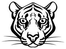 Χαριτωμένη διανυσματική τίγρη Στοκ εικόνα με δικαίωμα ελεύθερης χρήσης