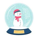 Χαριτωμένη διανυσματική χιονιά Στοκ εικόνα με δικαίωμα ελεύθερης χρήσης