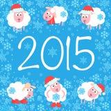 Χαριτωμένη κάρτα για τα Χριστούγεννα και το νέο έτος Στοκ εικόνα με δικαίωμα ελεύθερης χρήσης