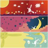 Χαριτωμένη κάρτα κουνελιών Στοκ Εικόνα