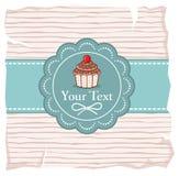 Χαριτωμένη κάρτα δώρων cupcake Στοκ Εικόνες