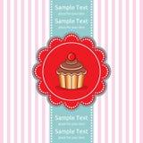 Χαριτωμένη κάρτα δώρων cupcake Στοκ εικόνα με δικαίωμα ελεύθερης χρήσης