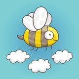 Χαριτωμένη και αστεία μέλισσα Στοκ Εικόνες