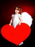 χαριτωμένη καρδιά κοριτσιώ Στοκ φωτογραφίες με δικαίωμα ελεύθερης χρήσης