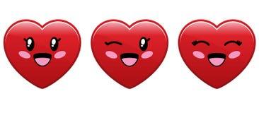 χαριτωμένη καρδιά χαρακτήρ&alp ελεύθερη απεικόνιση δικαιώματος
