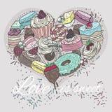 Χαριτωμένη καρδιά από τα γλυκά. Στοκ Φωτογραφία