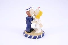 Χαριτωμένη κούκλα ρητίνης ναυτικών και νοσοκόμων που απομονώνεται Στοκ Εικόνα