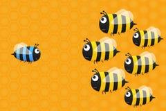 Χαριτωμένη μπλε μέλισσα Στοκ Εικόνες