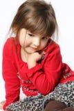 Ντροπαλό μικρό κορίτσι Στοκ φωτογραφίες με δικαίωμα ελεύθερης χρήσης