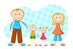 χαριτωμένη οικογένεια Στοκ εικόνες με δικαίωμα ελεύθερης χρήσης