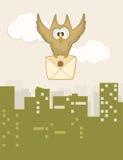 Χαριτωμένη πετώντας κουκουβάγια Στοκ Εικόνες