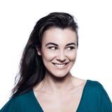 Χαριτωμένη πράσινη γυναίκα ματιών Στοκ Φωτογραφία