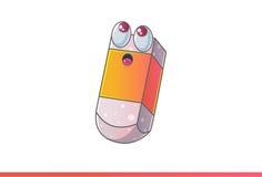Χαριτωμένη σκέψη Emoji γομών Στοκ εικόνες με δικαίωμα ελεύθερης χρήσης