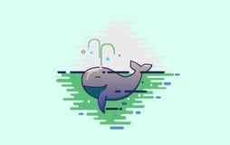 Χαριτωμένη σκοτεινή φάλαινα Στοκ Εικόνες