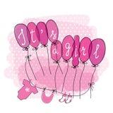 Χαριτωμένη συρμένη χέρι doodle κάρτα ντους μωρών Στοκ Εικόνες
