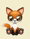 Χαριτωμένη τέχνη απεικόνισης αλεπούδων διανυσματική Στοκ φωτογραφία με δικαίωμα ελεύθερης χρήσης