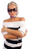 χαριτωμένη φθορά γυαλιών η&lam στοκ φωτογραφία με δικαίωμα ελεύθερης χρήσης