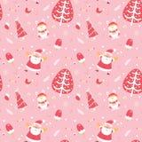 Χαριτωμένη Χαρούμενα Χριστούγεννα και άνευ ραφής σχέδιο καλής χρονιάς Άριστα επεξηγηματικά στοιχεία σχεδίου στοκ εικόνες
