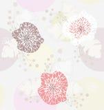χαριτωμένη floral άνοιξη προτύπων &ka απεικόνιση αποθεμάτων