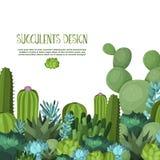 Χαριτωμένη succulent διανυσματική απεικόνιση Στοκ φωτογραφίες με δικαίωμα ελεύθερης χρήσης