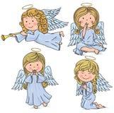 Χαριτωμένοι άγγελοι διανυσματική απεικόνιση