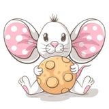 Χαριτωμένοι, αστείοι, tedy χαρακτήρες κινουμένων σχεδίων ποντικιών Ιδέα για την μπλούζα τυπωμένων υλών διανυσματική απεικόνιση