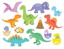 χαριτωμένοι δεινόσαυροι Στοκ Εικόνα