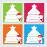 Χαριτωμένος Άγιος Βασίλης στη ζωηρόχρωμη απεικόνιση κινούμενων σχεδίων πλαισίων απεικόνιση αποθεμάτων