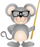 Χαριτωμένος δάσκαλος ποντικιών Στοκ εικόνα με δικαίωμα ελεύθερης χρήσης