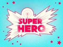 χαριτωμένος ήρωας χαρακτήρα κινουμένων σχεδίων έξοχος εγγραφή Στοκ Εικόνες