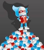 χαριτωμένος ήρωας χαρακτήρα κινουμένων σχεδίων έξοχος ελεύθερη απεικόνιση δικαιώματος