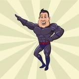 χαριτωμένος ήρωας χαρακτήρα κινουμένων σχεδίων έξοχος Στοκ Φωτογραφία