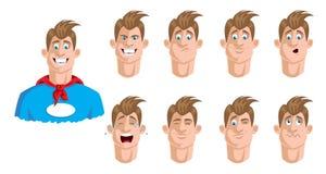 χαριτωμένος ήρωας χαρακτήρα κινουμένων σχεδίων έξοχος Στοκ φωτογραφίες με δικαίωμα ελεύθερης χρήσης