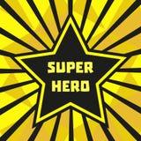 χαριτωμένος ήρωας χαρακτήρα κινουμένων σχεδίων έξοχος Στοκ Εικόνα