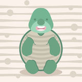 Χαριτωμένος λίγες σχέδιο και αφίσα μπλουζών παιδιών χελωνών Στοκ Φωτογραφίες