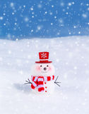 χαριτωμένος λίγος χιονάνθρωπος Στοκ εικόνες με δικαίωμα ελεύθερης χρήσης
