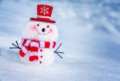 χαριτωμένος λίγος χιονάνθρωπος Στοκ Εικόνες