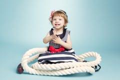 Χαριτωμένος λίγο μωρό ναυτικών Στοκ φωτογραφία με δικαίωμα ελεύθερης χρήσης