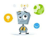 χαριτωμένος λίγο ρομπότ Στοκ φωτογραφία με δικαίωμα ελεύθερης χρήσης