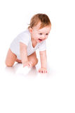 Χαριτωμένος λίγο σύρσιμο μωρών Στοκ Εικόνες
