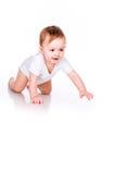 Χαριτωμένος λίγο σύρσιμο μωρών Στοκ Φωτογραφίες