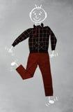 Χαριτωμένος αστείος χαρακτήρας κινουμένων σχεδίων στα περιστασιακά ενδύματα Στοκ εικόνα με δικαίωμα ελεύθερης χρήσης