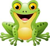 Χαριτωμένος βάτραχος κινούμενων σχεδίων στοκ εικόνες