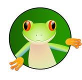χαριτωμένος βάτραχος Στοκ εικόνα με δικαίωμα ελεύθερης χρήσης